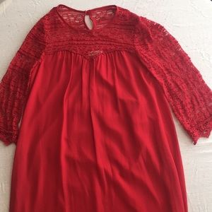Red speechless dress size M